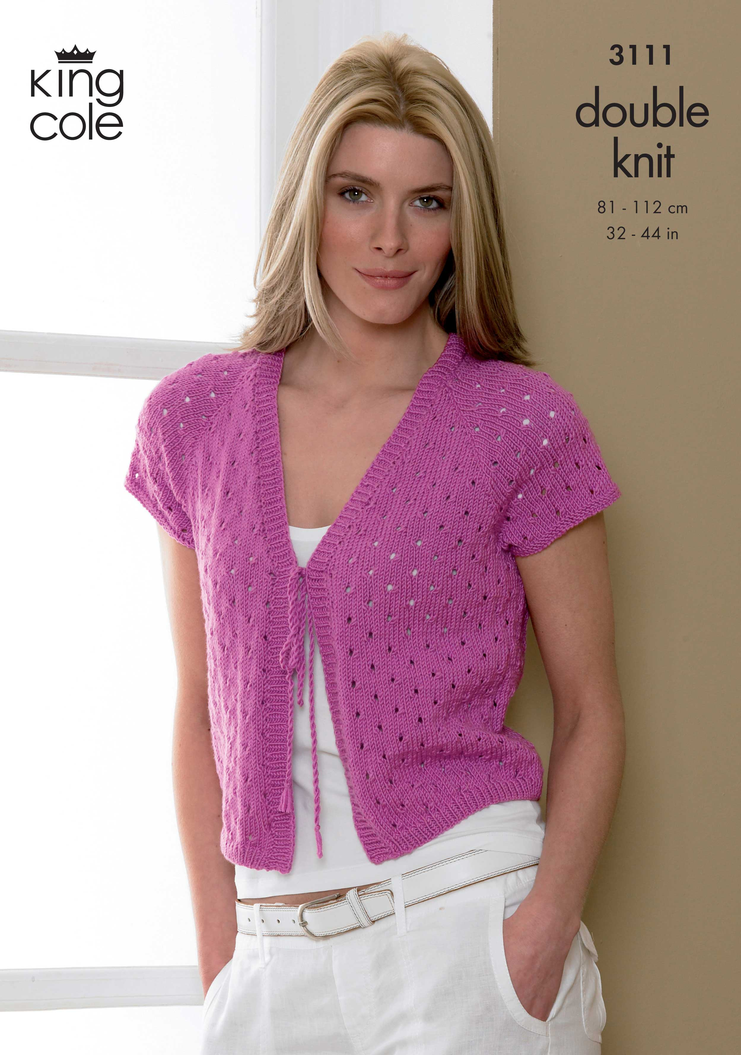 Easy to Follow Bolero and Cardigan Knitted in Smooth DK ...