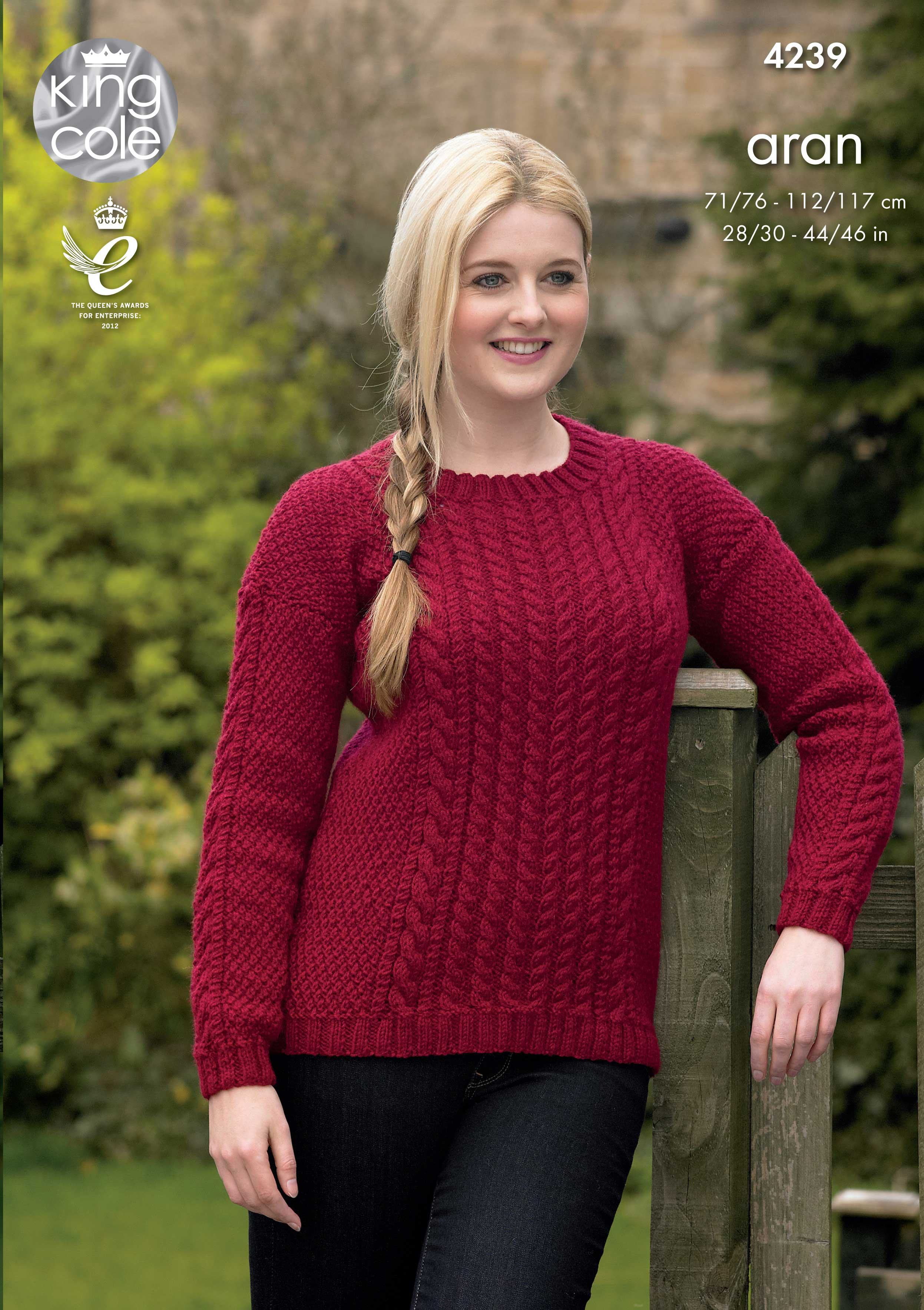 Easy to Follow Sweaters Knitted with Fashion Aran Knitting ...