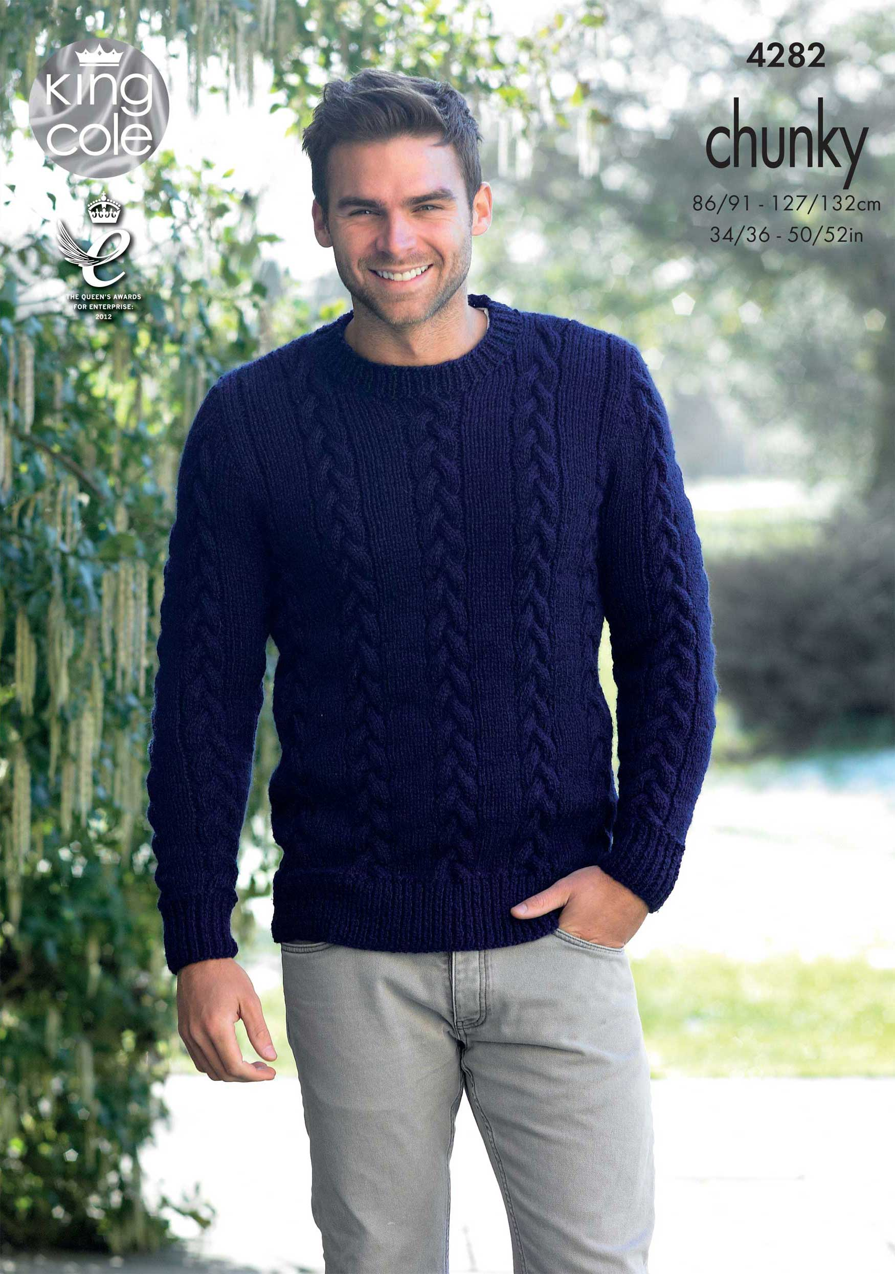 Easy to Follow Mens Sweater and Slipover Knitted with New ...