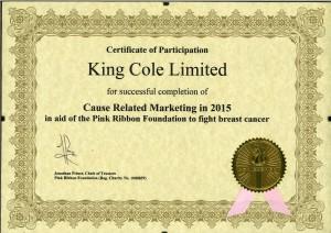 Pink Ribbon Certificate