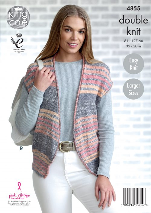 Easy to Follow Ladies Cardigan & Waistcoat knitted with ...