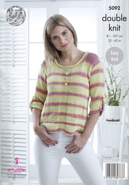 Easy to Follow Sweaters Knitted in Cottonsoft Crush DK ...