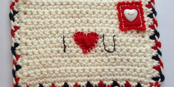 knitted love letter