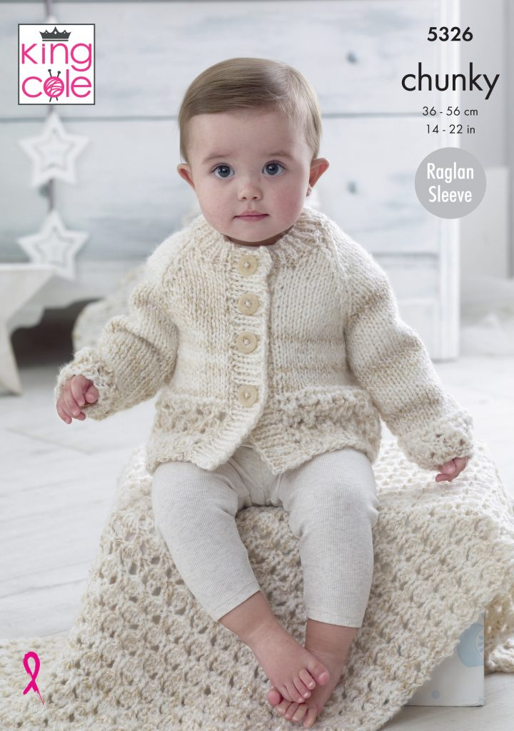 Easy to Follow Cardigan & Blanket Knitted in Big Value ...