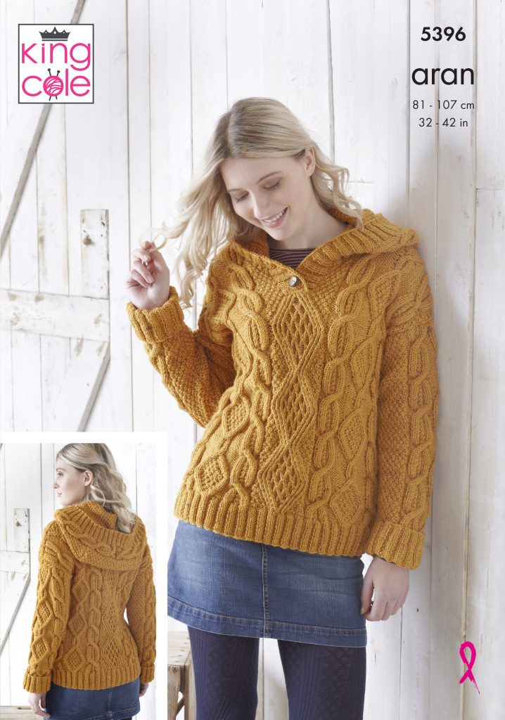 Easy to Follow Hoodie & Poncho Knitted in Fashion Aran ...