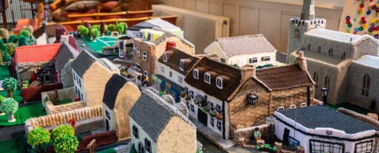 yarn bombing town